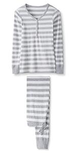 Womens Organic Long Sleeve Pajama Set