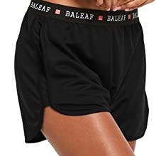 big side pockets, baleaf women running workout shorts, quick dry, acitve beach shorts
