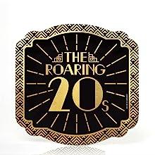 Roaring 20's Foil Dessert Plate