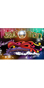 70's Soul Train Photography Backdrop 70's and 80's Disco Dancing Prom Party 7x5