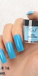 dip powder, dipping powder, blue, green, cyan, yellow, pearl shine, glitter