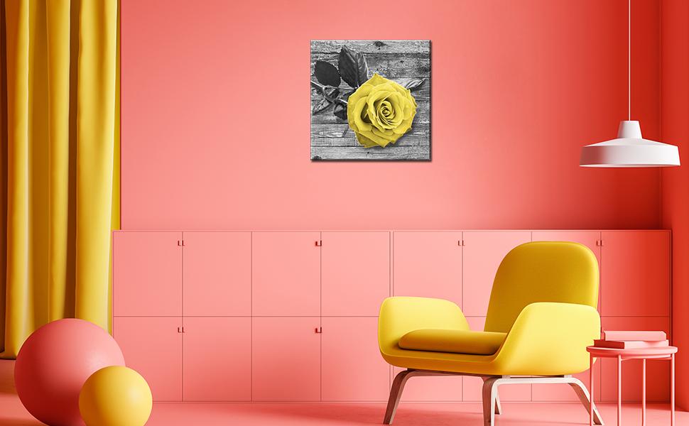 Black white gray colour wood grain floor flower plant yellow rose festival Valentine's Day romance