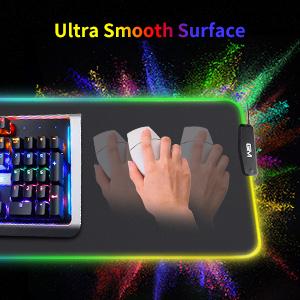 GIM RGB Gaming Mouse Pad, 4 USB Interface, 14 Lighting Modes, Anti-Slip Base Waterproof Mouse pad