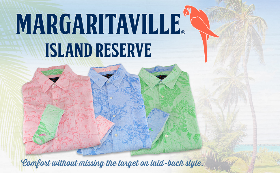 Margaritaville Store Island Reserve Tropically Inspired Beach and Office Clothing