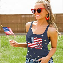 4th of july family vest stars striped tank top