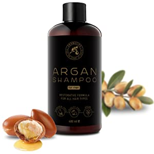 Argan Oil Shampoo for Men 480ml with Natural Argan Oil & Herbal Extracts for All Hair Types  Special
