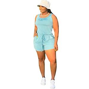 Plus Size romper jumpsuits women