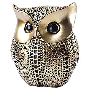 Gold/Black Dots Owl