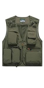 Men's Quick Dry Fishing Hunting Photograghy Journalist Outdoor Mesh Vest Jacket