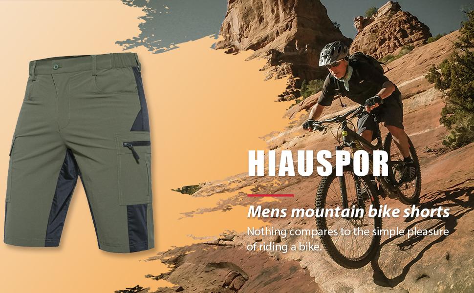 Lightweght with Pockets Mens Bike Shorts Cycling Mountain Bicycle Riding Biking MTB Baggy Pants Quick Dry