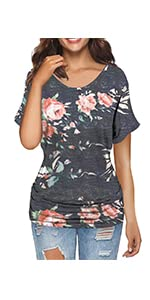 MODARANI Sleeveless Tank Top for Women Casual Loose Fitting Shirts V Neck & U Neck Tunics Floral