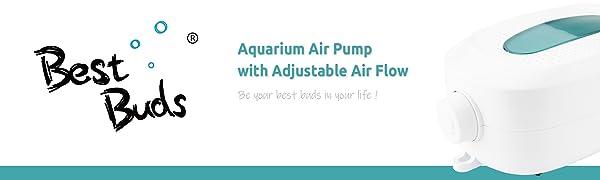 aquarium air pump with adjustable air flow