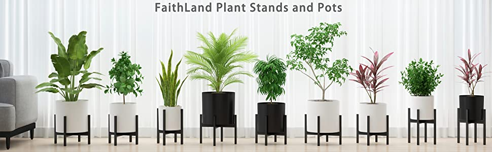 PLANT STAND AND POTS