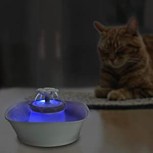 light pet fountain ultra quiet for cats dogs