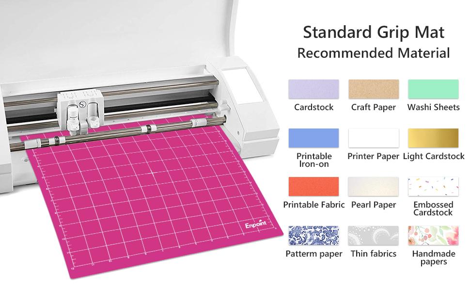 Enpoint 3 Pcs 12 x 12 in Healing Cutting Mat, Standard Grip Cutting Board Cameo 3/2/1Cutting Mat