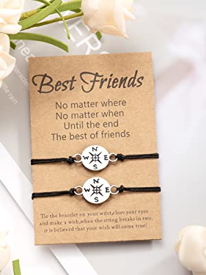 Friendship BFF Compass Bracelet