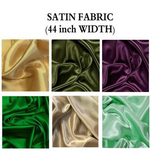 Satin fabric by yard