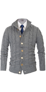 mens stand collar button down cardigan sweater cable knit long sleeve sweaters cardigan for men