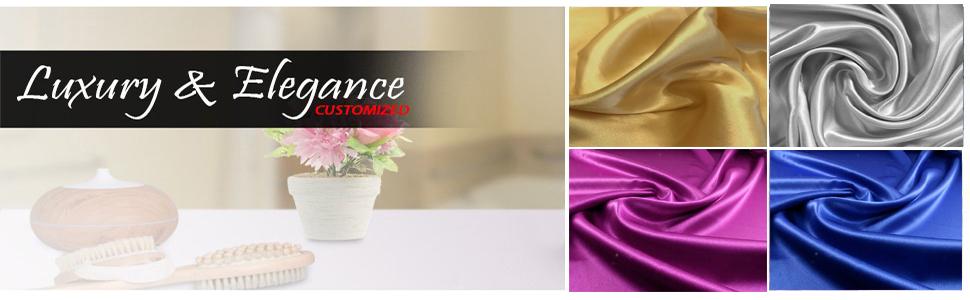 satin fabric for wedding craft