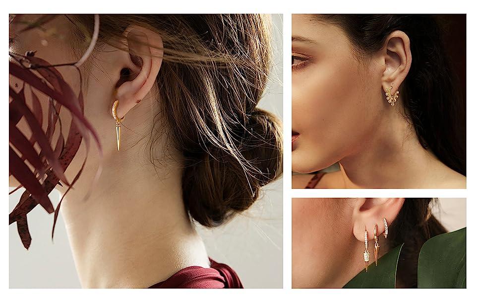 huggie earrings hoop earrings for women
