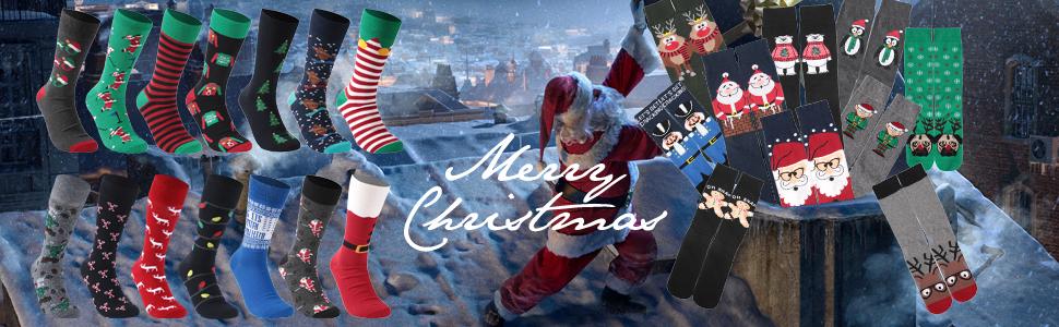 funny novelty cute cotton colorful christmas socks