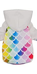 Mermaid dog hoodie