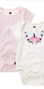 Tea Collection Baby Girls' Flutterby Bodysuit Set