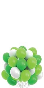 dinosaur party balloons green white balloons