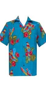 Parrot Print Hawaiian Shirt
