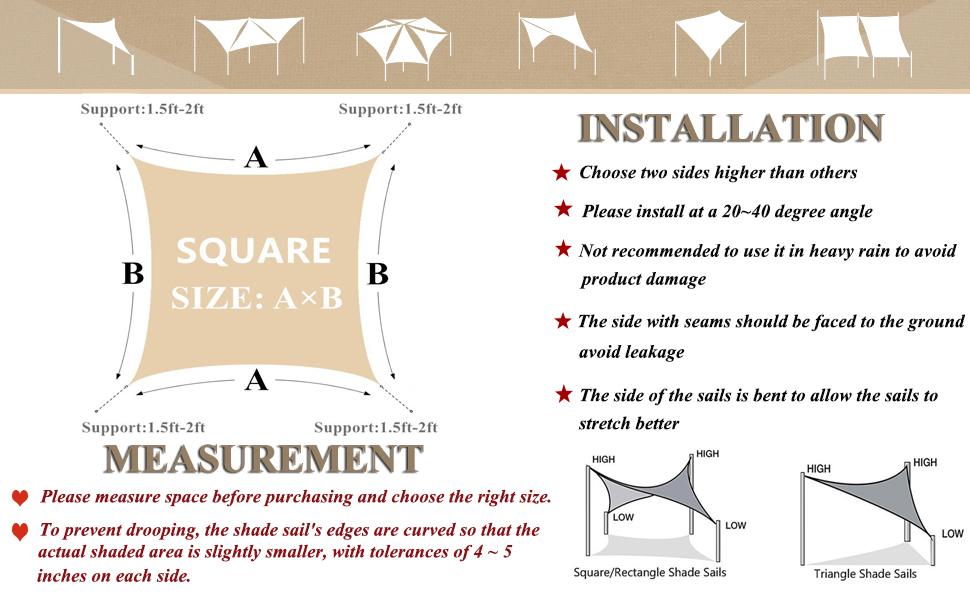 sunshadesails square