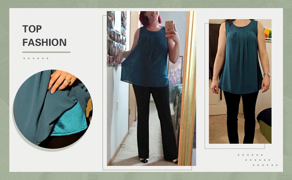 women sleeveless chiffon tunics tank ladies layers blouses for women casual business wear