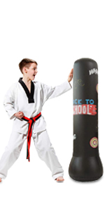 "GEMGO 47"" Free Standing Boxing Bag Kicking Bags(Black)"