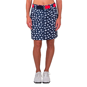 The Firecracker skorts have a front center seam, which helps to slim out your thighs