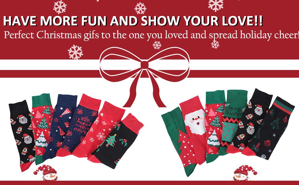 winter christmas socks womens mens kids family socks festival fun novelty socks 3 sizes family socks