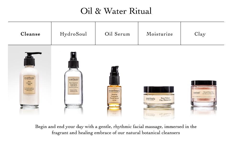 Cleanse, HydroSoul, Oil Serum, Moisturize, Clay Masks