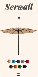 patio umbrellas & shade