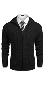 Men's Full Zip Cardigan Sweater