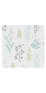 Sweet Jojo Designs Blue and Grey Tropical Leaf Fabric Memory Memo Photo Bulletin Board