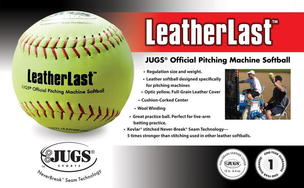 LeatherLast Softballs for Pitching Machines