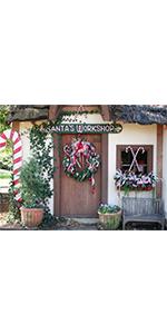 Christmas Front Door Backdrop