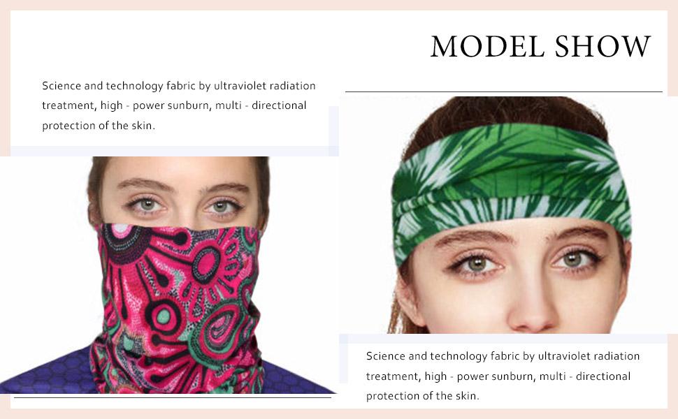 Fstrend 2Pcs Outdoor Seamless Face Mask Bandana