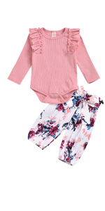 baby girls pink floral outfit