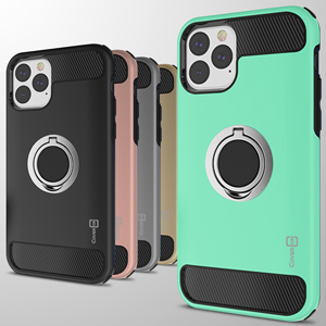 """apple iphone 11 5.8"""" 2019 dual layer hybrid ring holder case kickstand protective phone cover"""