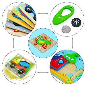 wooden puzzles with tray