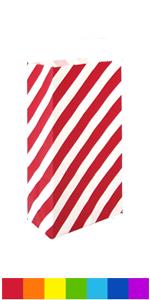 Mini striped paper bags