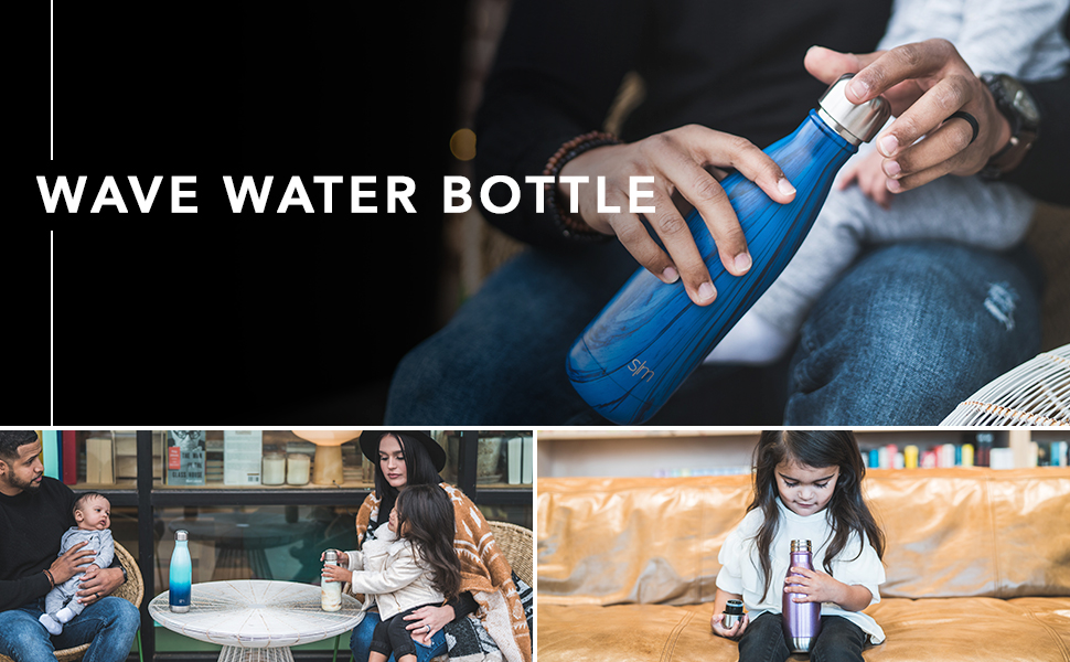 Simple Modern Banner Wave Insulated Water Bottle
