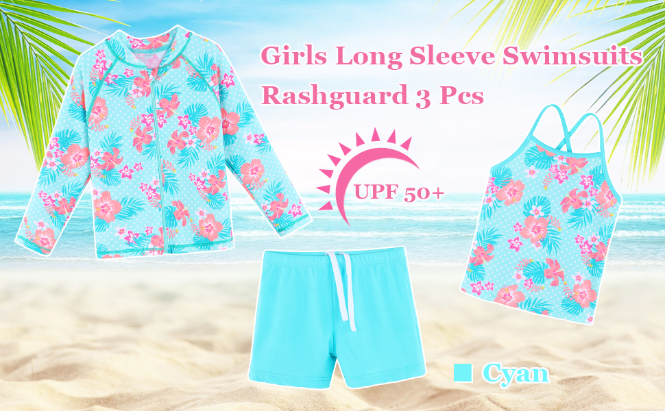 girls swimsuit long sleeve