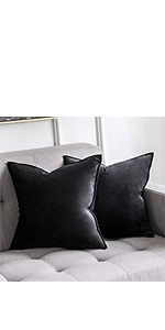 flange flanged MIULEE velvet cushion cover soft comfortable 12x20 18x18 20x20 24x24 two