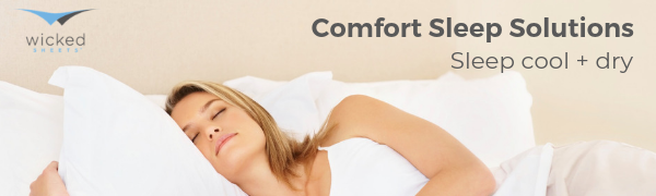 wicked sheets moisture wicking cooling comfort sleep solutions quick dry breathable hypoallergenic