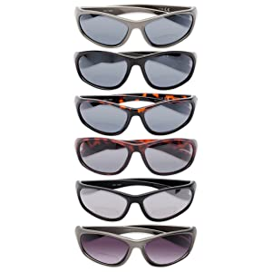 sport and wrap around black reading sunglasses